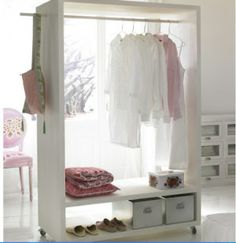Good news for home decor enthusiast.If you are looking for open closet ideas you've come to the right place. We have 18 images about open closet ideas Small Closet Space, Small Spaces, Furniture For You, Diy Furniture, Industrial Furniture, Vintage Industrial, Bedroom Furniture, Furniture Design, No Closet Solutions