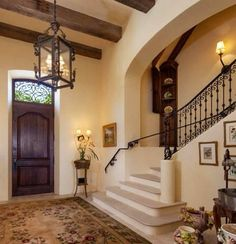 Really like this wall color and entry way