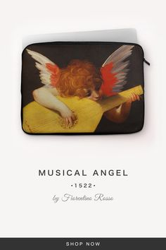 """""""Musical Angel"""" by Fiorentino Rosso 7 And 7, Laptop Sleeves, Musicals, Angel, Fabric, Accessories, Tejido, Notebook Covers, Angels"""