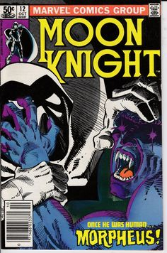 Moon Knight 12 October 1981 Issue  Marvel Comics  by ViewObscura
