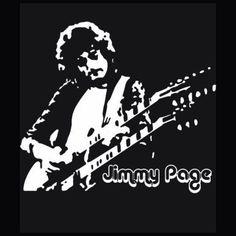 BOX'NGO - $18.99 Jimmy Page English musician guitarist leader rock band Led Zeppelin black t-shirt im02
