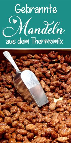 Roasted almonds from the Thermomix - this recipe is guaranteed to succeed. - There are some recipes for roasted almonds on the net that just don& work, the most common ca - Breakfast Recipes, Snack Recipes, Snacks Ideas, Thermomix Desserts, Roasted Almonds, Apple Cake, Some Recipe, Muesli, Food Items