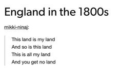 Too true. Look at this huge piece of land I will put my convicts here. Look at this little island I will turn it into an entreport. I just won a war from you give me that piece of land.