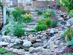 Backyard idea by stream