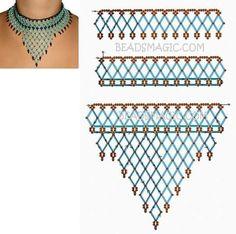 Otomatik alternatif metin yok. Diy Necklace Patterns, Beaded Jewelry Patterns, Beading Patterns, Bead Jewellery, Seed Bead Jewelry, Beading Techniques, Beading Tutorials, Bead Loom Bracelets, Necklace Tutorial