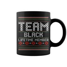 Team Black Lifetime Member Ugly Christmas Sweater mug