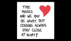I love my cousins!  We were so close growing up.  We still are, but many of us live far apart.  The times that we do get together are so special. Cousin Magnet Quote $3.95 on Etsy http//www.TheMagnificentMagnet.etsy.com