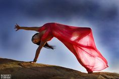 Color, motion, grace and style make for a beautiful yoga shot