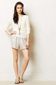 Anthropologie - Drawstring Shimmer Shorts