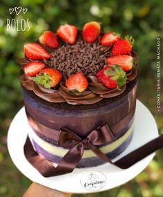 Bolos Naked Cake, Mini Tortillas, Cupcakes, Cake Boss, Box Cake, Fondant, Bakery, Cheesecake, Desserts
