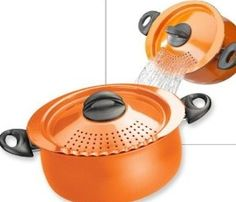 If you're a big fan of delicious and perfectly prepared pasta, then the pasta pot with strainer lid will suit you well and the oval shape fits spaghetti too