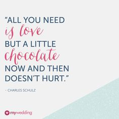 Chocolate never hurts. #dailywedtips