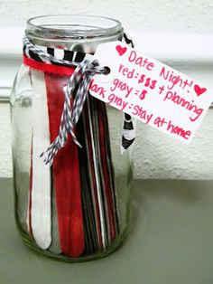 DIY Date Night Jar: For when you can't decide what to do!