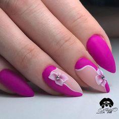 Top 30 Trending Nail Art Designs And Ideas Manicure Colors, Nail Manicure, Nail Polish, Cute Nails, Pretty Nails, Pink Nails, My Nails, Nail Art Fleur, Floral Nail Art
