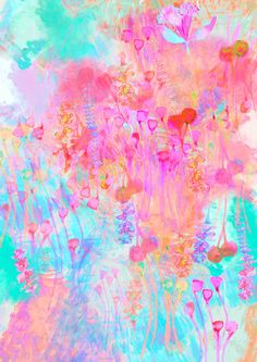 The mix of colours tone wallpaper Art And Illustration, Illustrations, Cute Wallpapers, Wallpaper Backgrounds, Iphone Wallpaper, Phone Backgrounds, Colorful Wallpaper, Background Patterns, Belle Photo