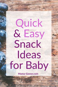 Only have ten minutes before your little starts getting into their hangry mode ?? Check out super quick snack ideas to keep your little calm