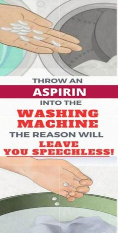 Throw An Aspirin Into The Washing Machine, The Reason Will Leave You Speechless!Throw An Aspirin Into The Washing Machine, The Reason Will Leave You Speechless!Click and Open Health Motivation, Weight Loss Motivation, Weight Loss Juice, Wellness Plan, Herbs For Health, Health And Fitness Articles, Health Fitness, Fitness Tips, Yoga Fitness