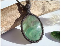 Fluorite Necklace/Clarity/Fluorite Pendant/Green by GaiasGiftsToUs