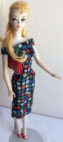 #1 Barbie wearing Apple Print Sheath