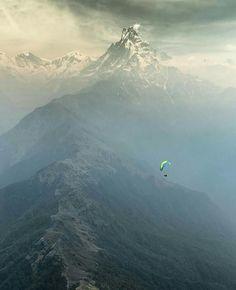 Mount Machhapuchhre and Paragliding, Nepal Photo: Cherise Tuttle