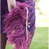 purple feathery clutch purse (by sara c accessories)