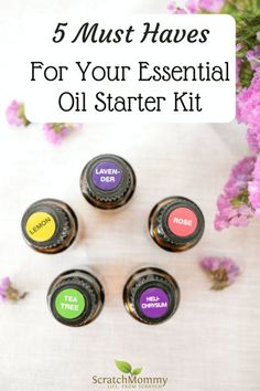 Discover Our 5 Must Haves For Your Essential Oil Starter Kit (and our favorite ways to use them)! Essential Oil Starter Kit, Rose Essential Oil, Tea Tree Essential Oil, Essential Oil Blends, Bug Spray Recipe, Essential Oils For Headaches, Diy Hair Care, Cleaning Recipes, Green Cleaning