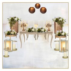 wedding reception by jenny-drossou on Polyvore featuring art
