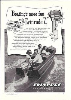 "1946 Evinrude Outboard Motors Ad- The Evinrude ""4"""