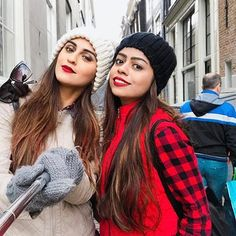 #Repost @streakhuefall with @repostapp ・・・ Stop and pose even though we froze ❤️ ❄️#StreakHueFall #SHFtravels . . . . #amsterdam #iamamsterdam #netherlands #travelgram #travelstyle #travelfashion #travelgram #sisterfromanothermister #girlstrip #ootd #bestoftheday #outfit #alwaystwinning
