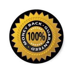 Money Back Guarantee Stamp Sticker