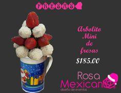 Taza de Fresas cubiertas con chocolate blanco o semiamargo, de venta en Monterrey y Guadalajara