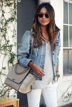 Denim, grey and white.