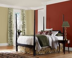 Steel Lily Design: The Red Accent Wall with green to go with. HMMMMMM interesting