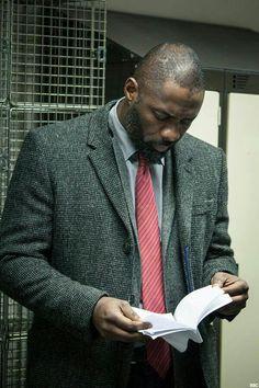 Idris Elba as Luther Idris Elba Luther, Actor Idris, Man Crush Everyday, Dapper Men, Clint Eastwood, Best Tv, Black Is Beautiful, Swagg, Black Men