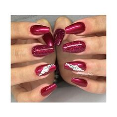 Red Nails Nail Art Gallery ❤ liked on Polyvore featuring beauty products, nail care and nail treatments