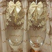 """Свадебный салон ручной работы. Ярмарка Мастеров - ручная работа Свадебные бокалы """"Классика"""". Handmade."""