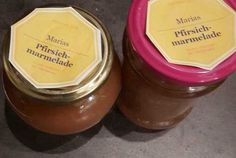 Pfirsich-Marmelade | | GUFRU Baking Supplies, Peaches, Diy Home Crafts, Marmalade, Home Made