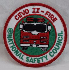 CEVO II Fire National Safety Council (Illinois) Patch National Safety, Patches For Sale, Selling On Ebay, Illinois, Fire, Etsy
