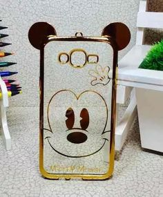 capinha capa case galaxy j7 j700 minnie mickey gold orelha
