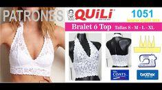 Bralett top dama PATRONES 1051 - YouTube