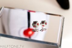 Companion Cube Earrings  Impossible Object, $20.00