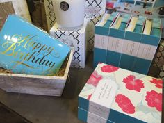 Pick up a few note cards and candles for a quick birthday gift--and don't forget the card!