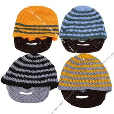 $7.17 Men Women Knit Beard Beanie Mustache Mask Face Warmer Ski Bike Winter Hat Cap #Hats #eozy