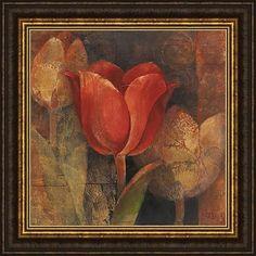 Albena Hristova 'Tulip Reflection' Framed Print Art, Brown