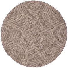 Filzkugel-Teppich NATURLINIE rund myfelt - einrichten-design.de