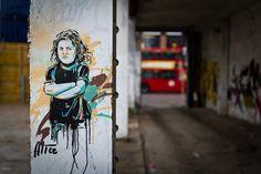 Alice Pasquini in Shoreditch, London