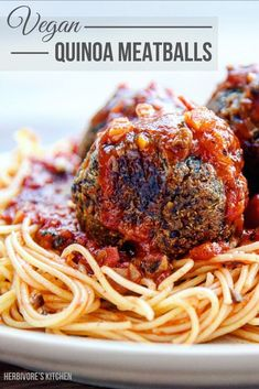This vegan meatball recipe is stuffed with healthy, whole food ingredients including mushrooms, toasted walnuts, quinoa and Italian seasonings! High Protein Vegan Recipes, Vegan Dinner Recipes, Vegan Dinners, Vegan Recipes Easy, Whole Food Recipes, Pasta Recipes, Vegan Meatballs, Vegan Comfort Food, Vegan Meal Prep