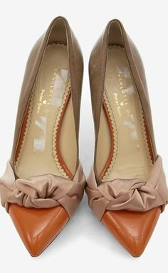 Charlotte Olympia + Peter Som Orange, Blush And Brown Pump