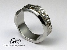 Art Jewelry. Unique handmade ring. Sterling silver.