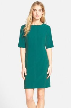 Tahari Seamed A-Line Dress (Regular & Petite) available at #Nordstrom- IN AZURE